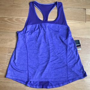Reebok tank top racer back run tank purple size XL